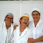 Giovanna, Maria e Mariella pronte per i frittini di verdure e frutta