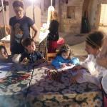 i bimbi colorano le illustrazioni di Ulisse